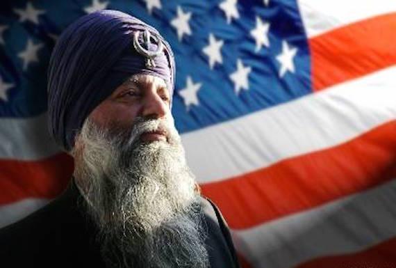 Sikh and USA Flag