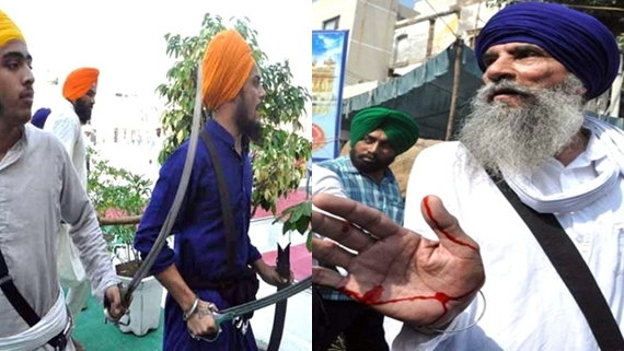 clash between task force and acting jathedar supporter