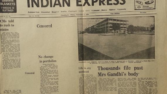 ਅਖਬਾਰਾਂ 'ਤੇ ਸੈਂਸਰਸ਼ਿਪ ਲਾ ਕੇ ਭਾਰਤ ਸਰਕਾਰ ਨੇ ਸਿੱਖ ਨਸਲਕੁਸ਼ੀ 1984 ਦਾ ਸੱਚ ਦਬਾਉਣ ਦੀ ਕੋਸ਼ਿਸ਼ ਕੀਤੀ ਸੀ